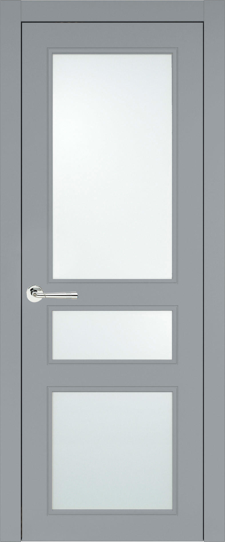 Imperia-R Neo Classic цвет - Серебристо-серая эмаль (RAL 7045) Со стеклом (ДО)
