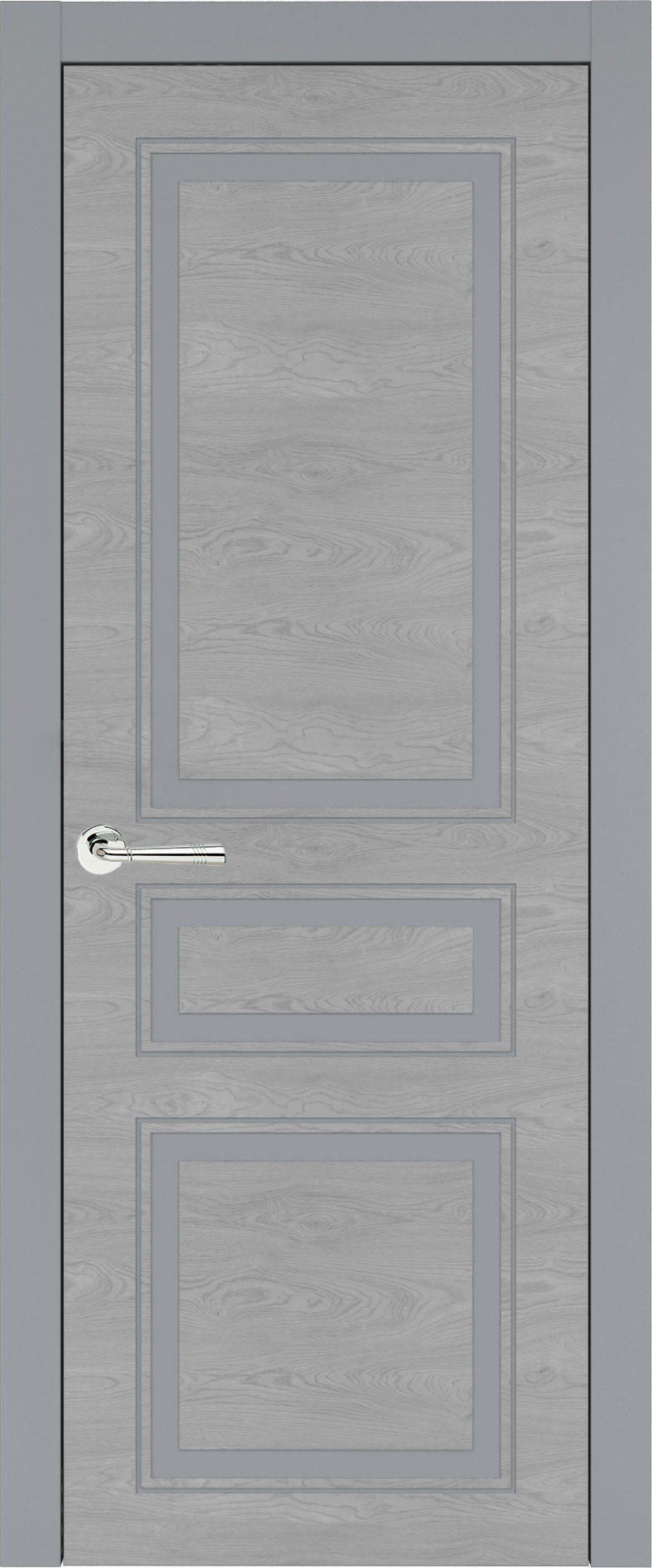 Imperia-R Neo Classic цвет - Серебристо-серая эмаль по шпону (RAL 7045) Без стекла (ДГ)