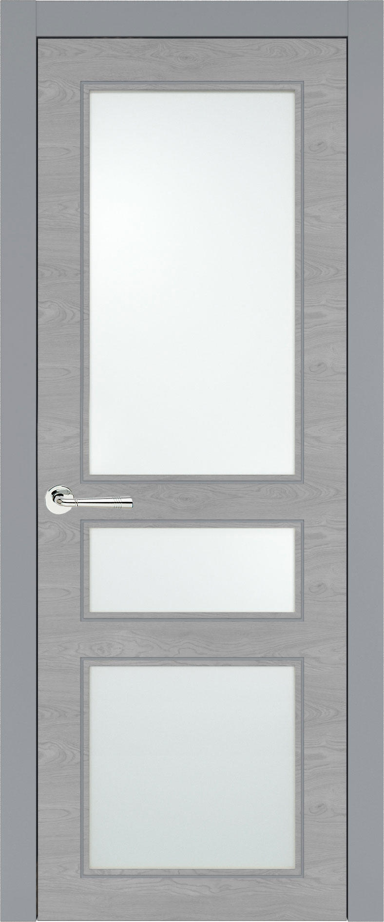 Imperia-R Neo Classic цвет - Серебристо-серая эмаль по шпону (RAL 7045) Со стеклом (ДО)