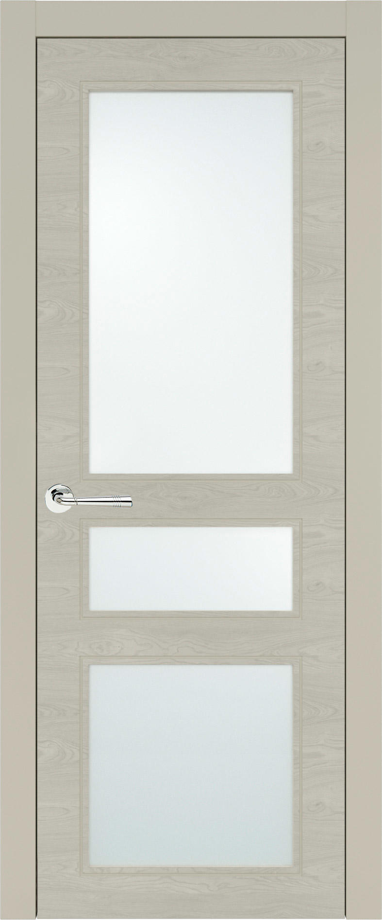 Imperia-R Neo Classic цвет - Серо-оливковая эмаль по шпону (RAL 7032) Со стеклом (ДО)