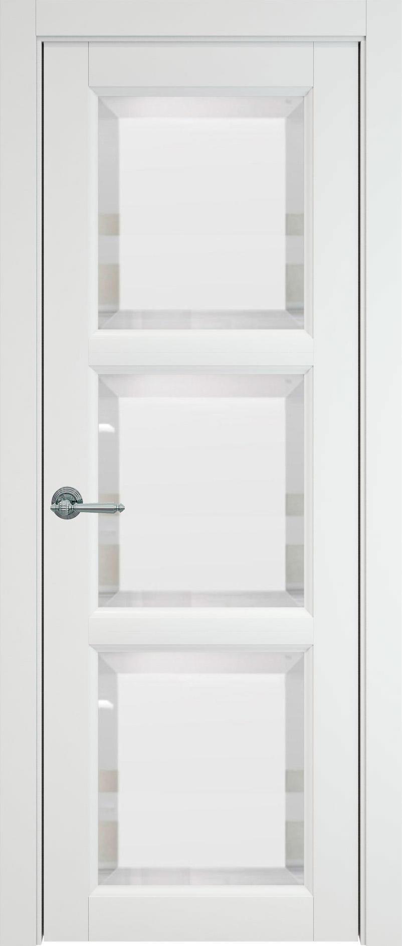 Milano цвет - Белая эмаль (RAL 9003) Со стеклом (ДО)