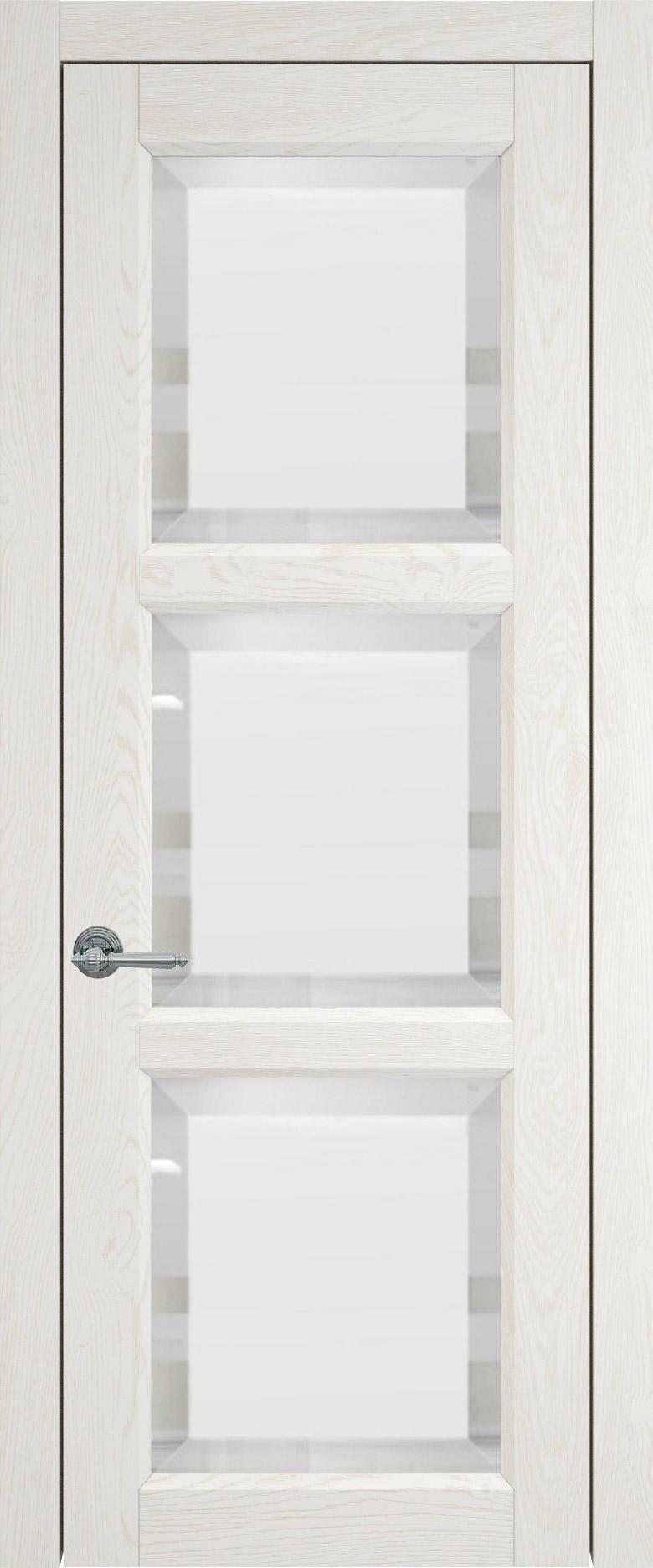 Milano цвет - Белый ясень (nano-flex) Со стеклом (ДО)