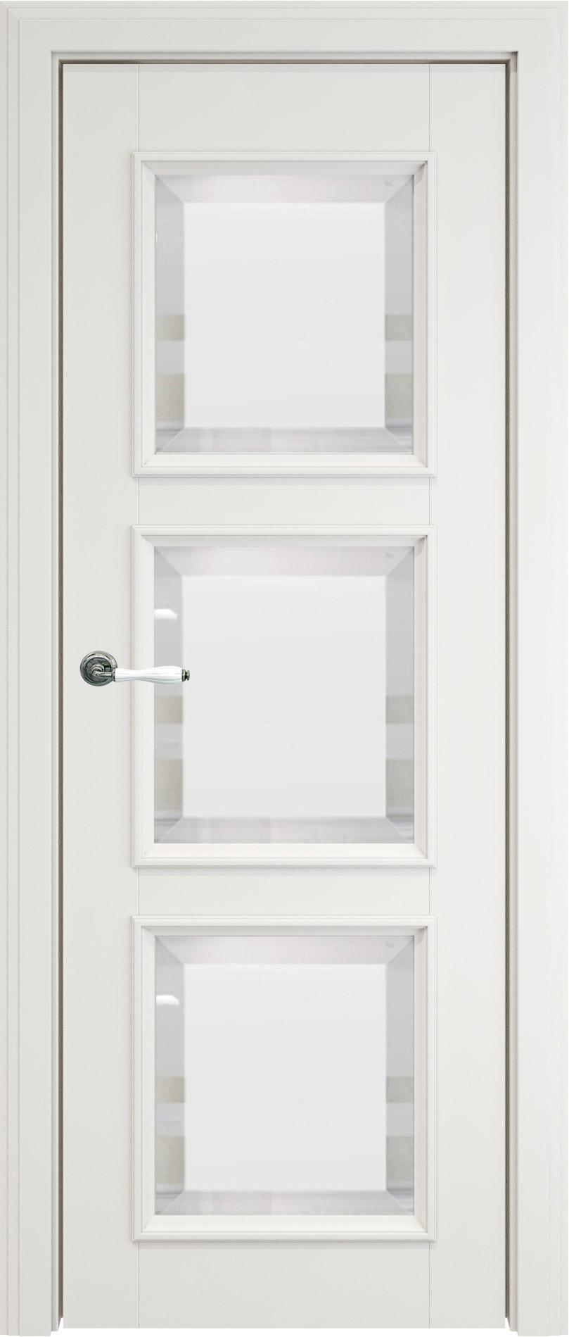Milano LUX цвет - Белая эмаль (RAL 9003) Со стеклом (ДО)