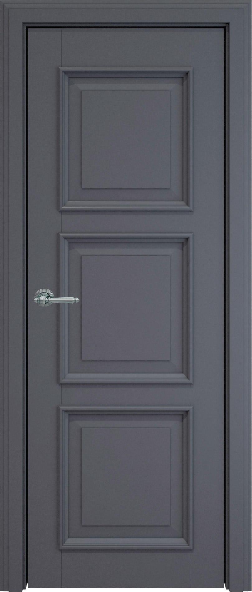 Milano LUX цвет - Графитово-серая эмаль (RAL 7024) Без стекла (ДГ)