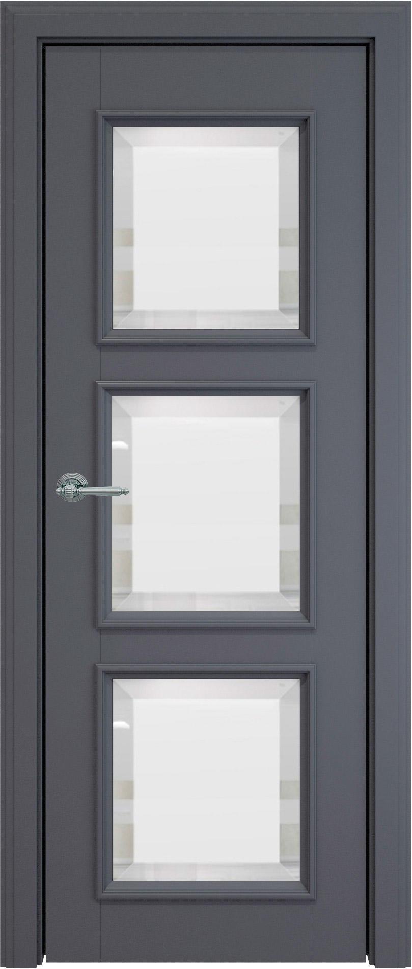 Milano LUX цвет - Графитово-серая эмаль (RAL 7024) Со стеклом (ДО)