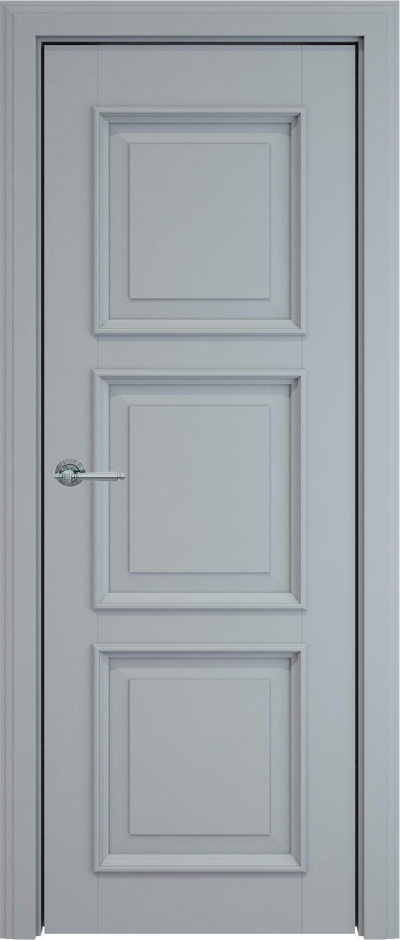 Milano LUX цвет - Серебристо-серая эмаль (RAL 7045) Без стекла (ДГ)
