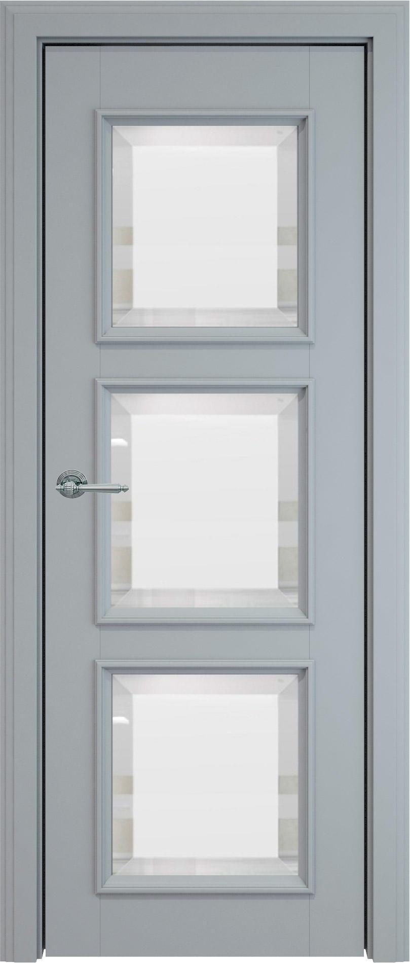 Milano LUX цвет - Серебристо-серая эмаль (RAL 7045) Со стеклом (ДО)