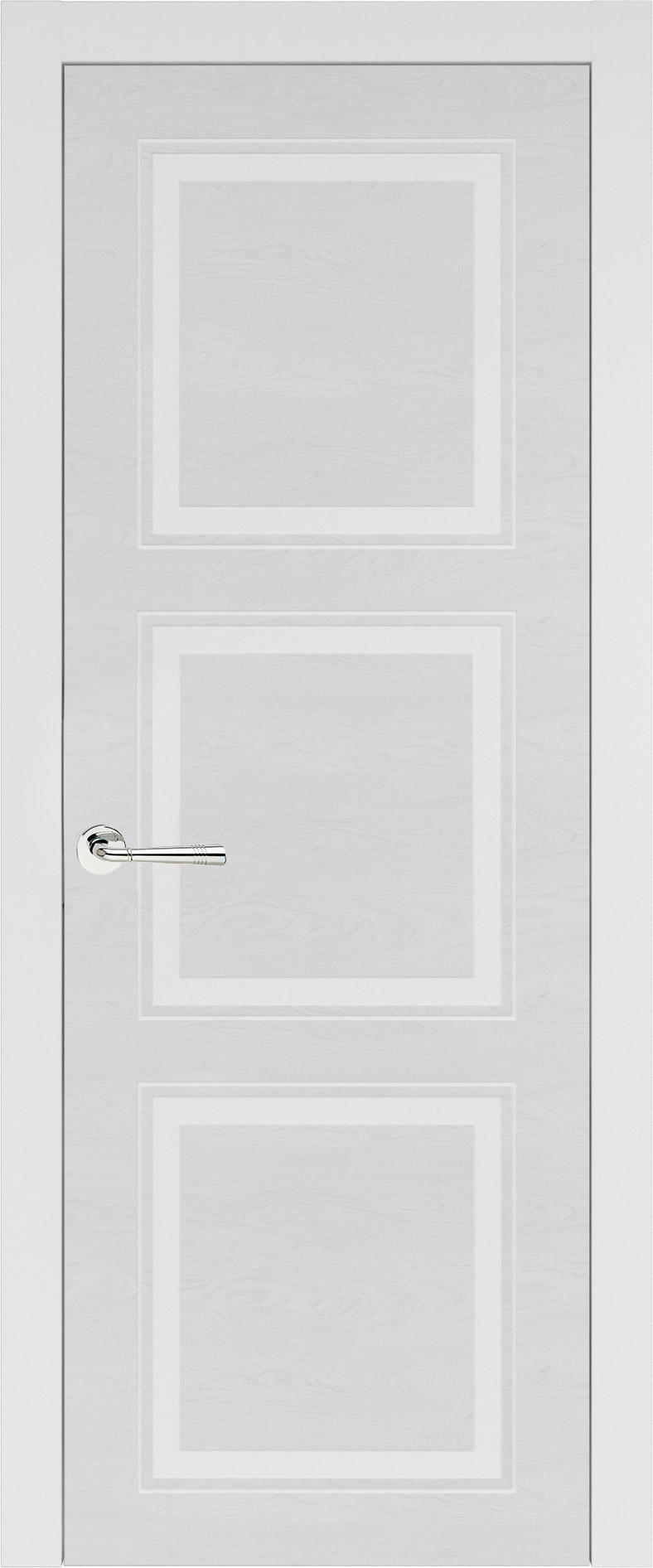 Milano Neo Classic цвет - Белая эмаль по шпону (RAL 9003) Без стекла (ДГ)