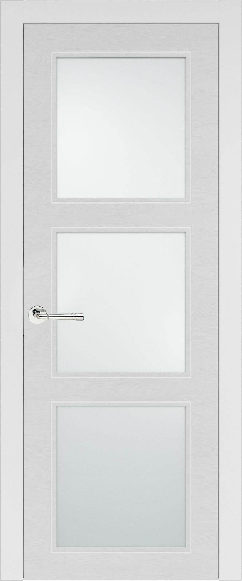Milano Neo Classic цвет - Белая эмаль по шпону (RAL 9003) Со стеклом (ДО)
