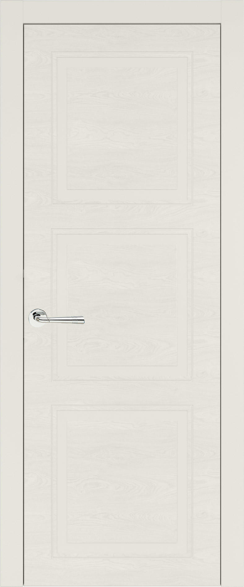 Milano Neo Classic цвет - Бежевая эмаль по шпону (RAL 9010) Без стекла (ДГ)
