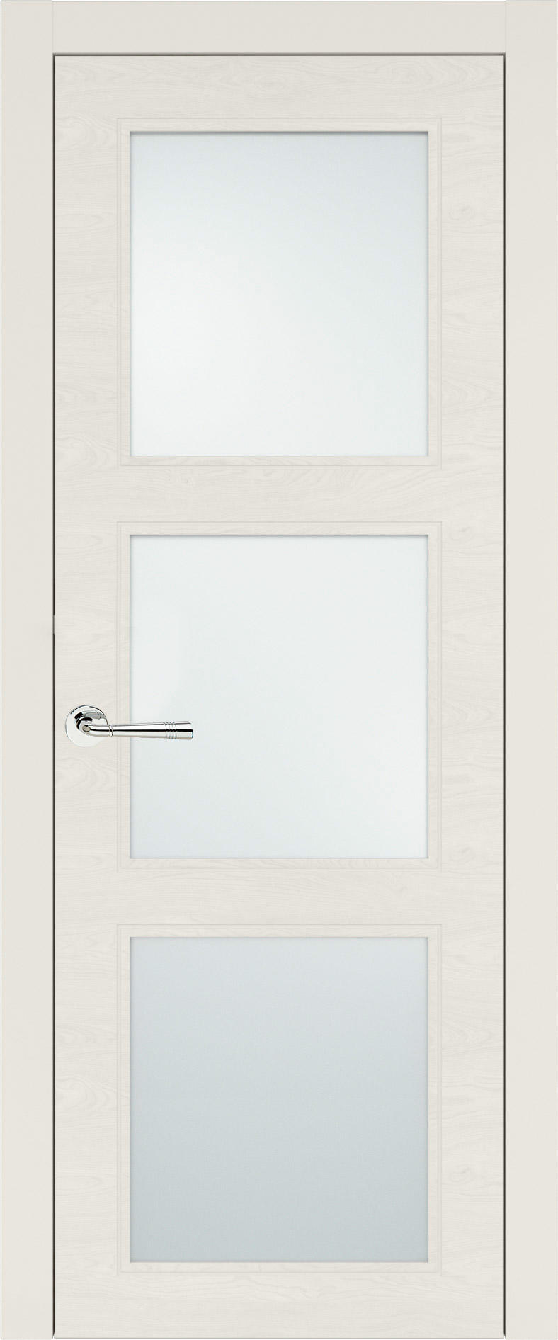 Milano Neo Classic цвет - Бежевая эмаль по шпону (RAL 9010) Со стеклом (ДО)