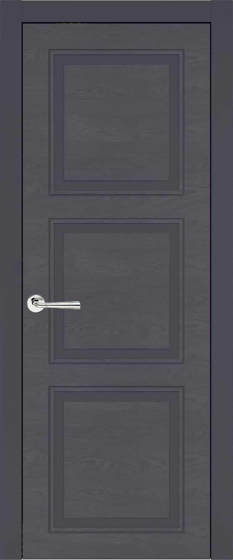 Milano Neo Classic цвет - Графитово-серая эмаль по шпону (RAL 7024) Без стекла (ДГ)