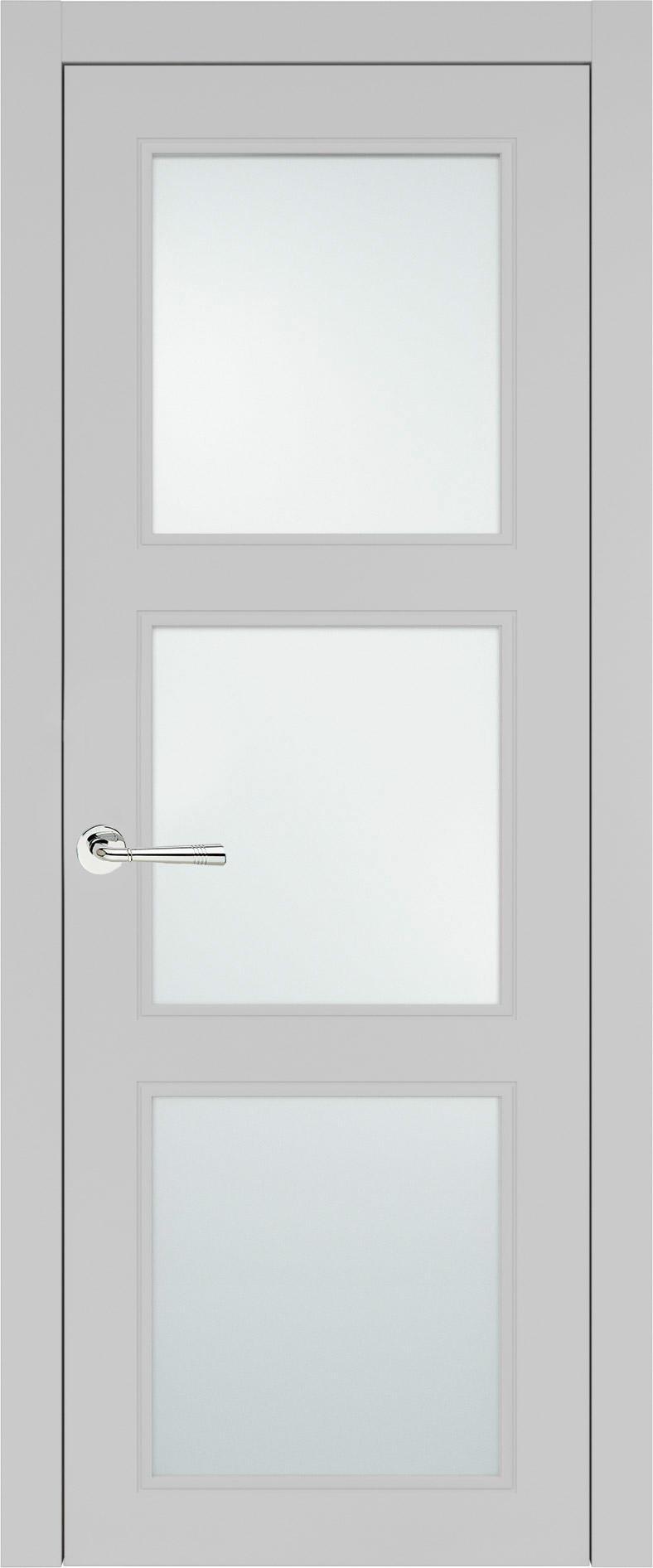 Milano Neo Classic цвет - Серая эмаль (RAL 7047) Со стеклом (ДО)