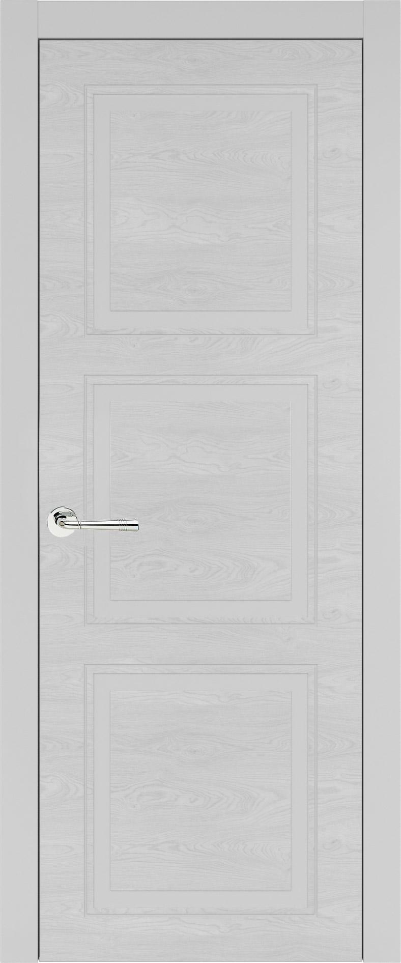 Milano Neo Classic цвет - Серая эмаль по шпону (RAL 7047) Без стекла (ДГ)