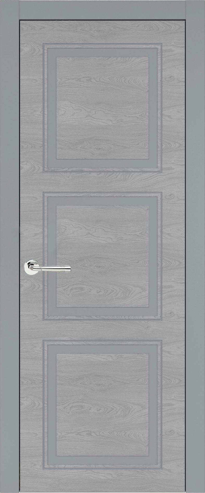 Milano Neo Classic цвет - Серебристо-серая эмаль по шпону (RAL 7045) Без стекла (ДГ)