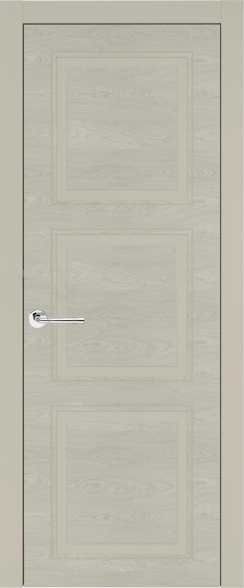 Milano Neo Classic цвет - Серо-оливковая эмаль по шпону (RAL 7032) Без стекла (ДГ)