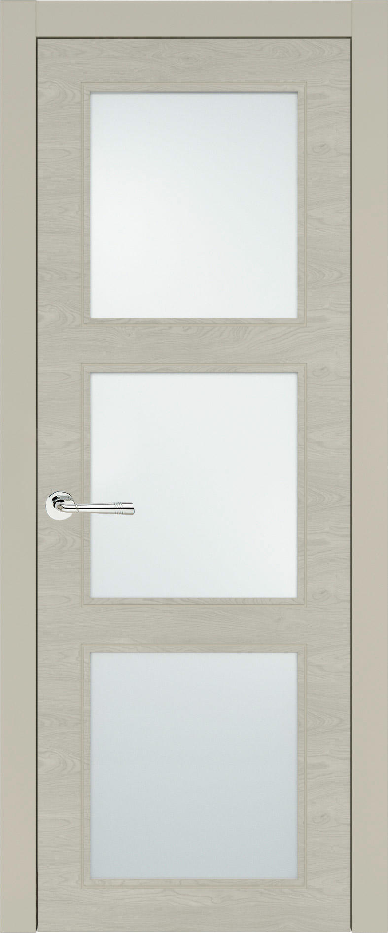 Milano Neo Classic цвет - Серо-оливковая эмаль по шпону (RAL 7032) Со стеклом (ДО)