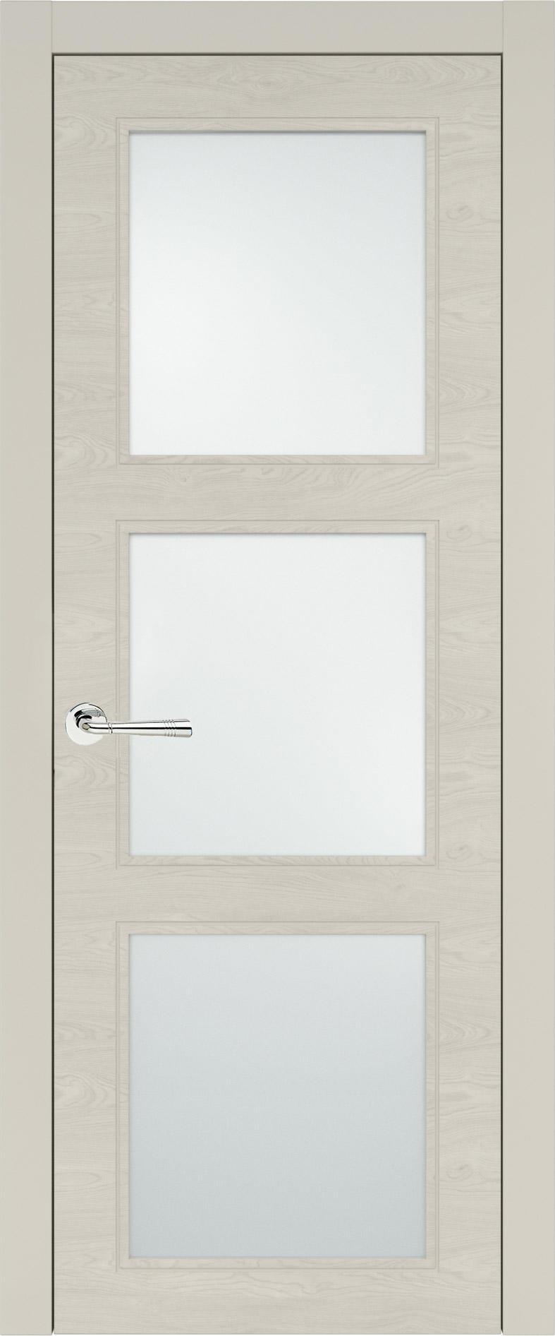 Milano Neo Classic цвет - Жемчужная эмаль по шпону (RAL 1013) Со стеклом (ДО)