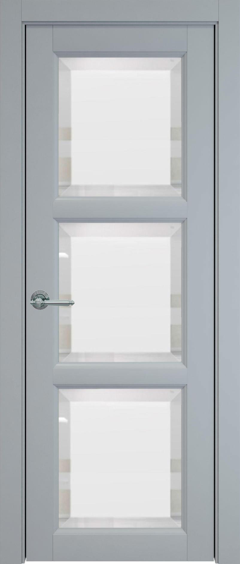 Milano цвет - Серебристо-серая эмаль (RAL 7045) Со стеклом (ДО)