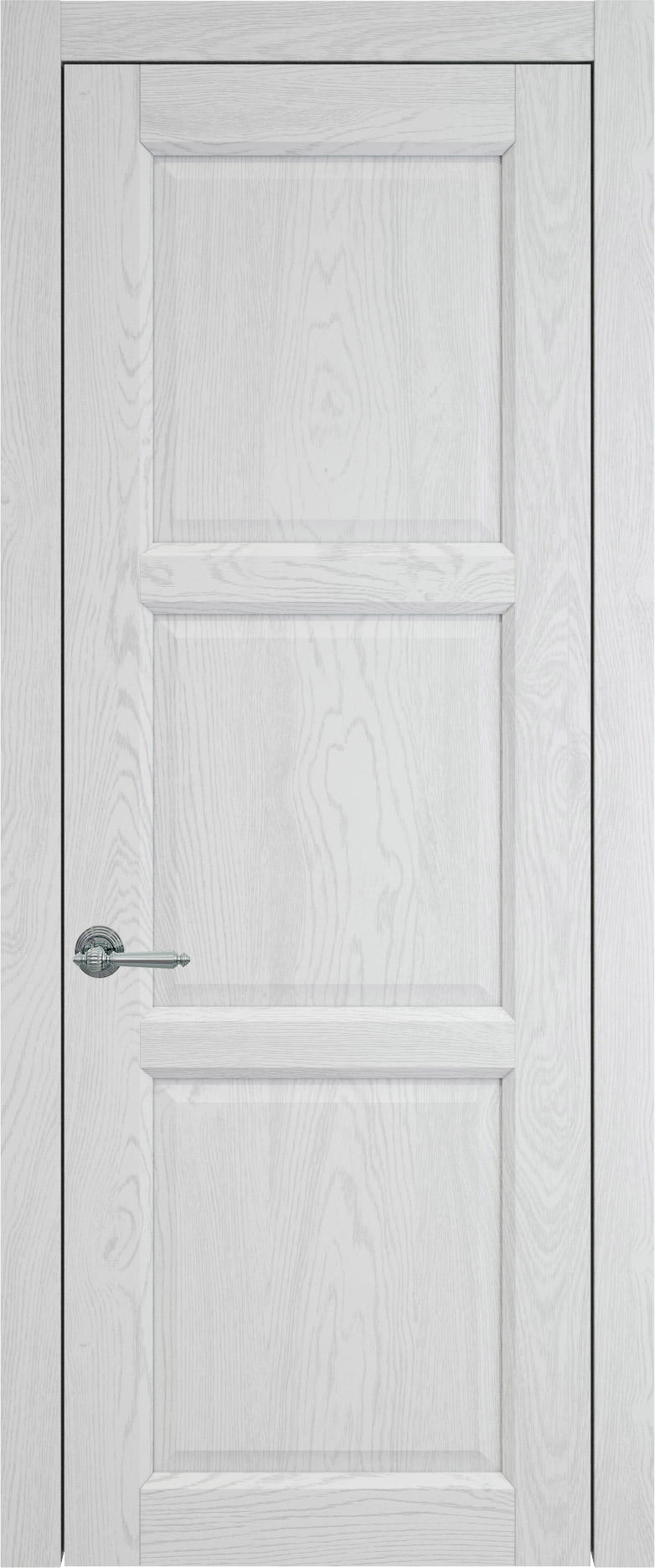 Milano цвет - Белый ясень (шпон) Без стекла (ДГ)