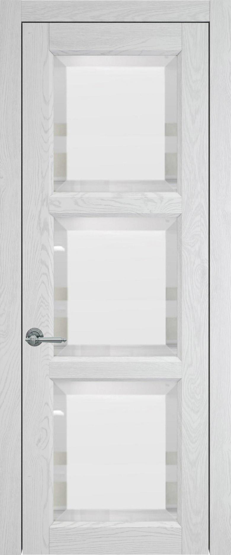Milano цвет - Белый ясень (шпон) Со стеклом (ДО)