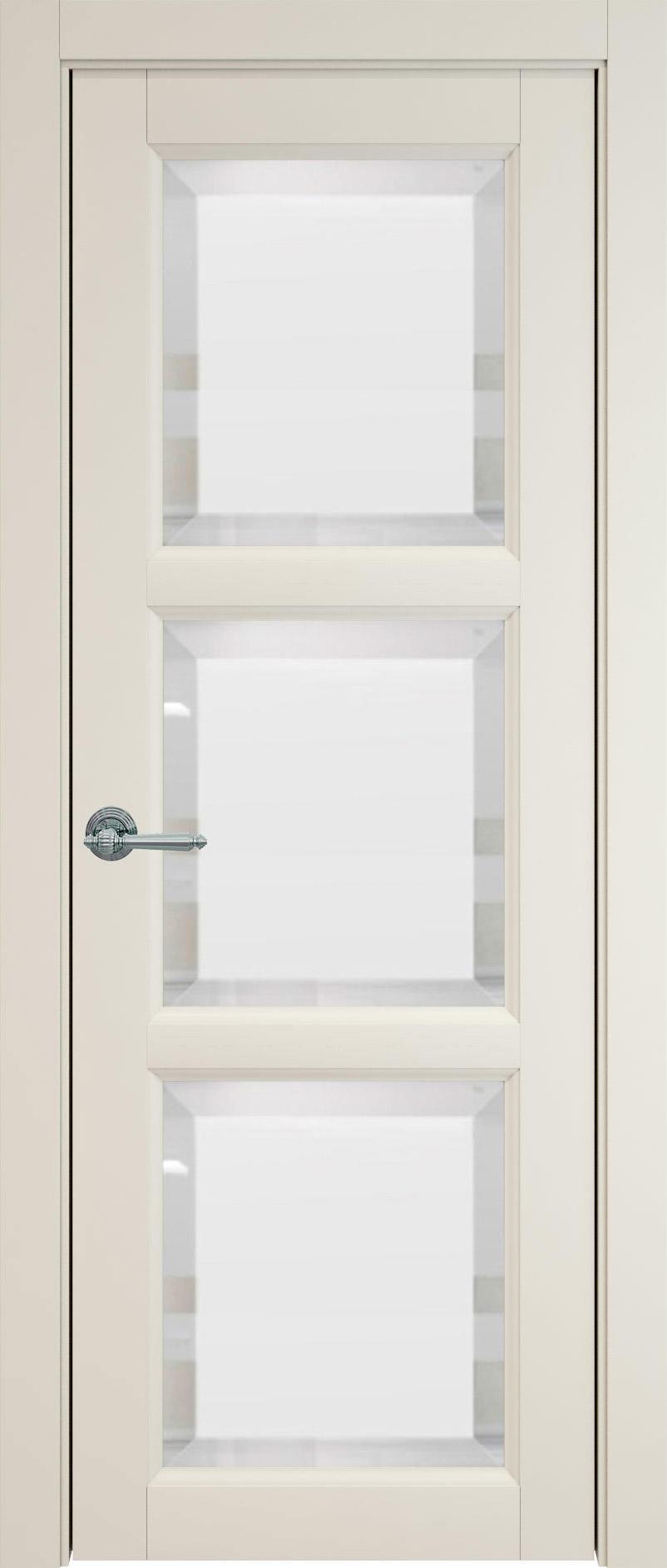 Milano цвет - Жемчужная эмаль (RAL 1013) Со стеклом (ДО)