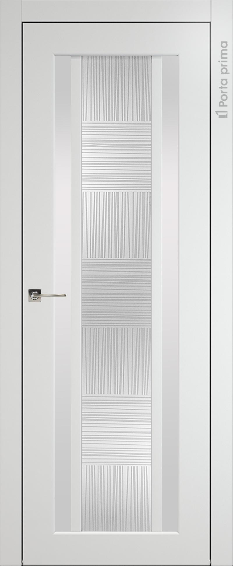 Palazzo цвет - Белая эмаль (RAL 9003) Со стеклом (ДО)