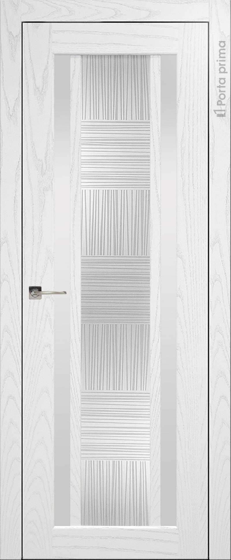 Palazzo цвет - Белый ясень (шпон) Со стеклом (ДО)