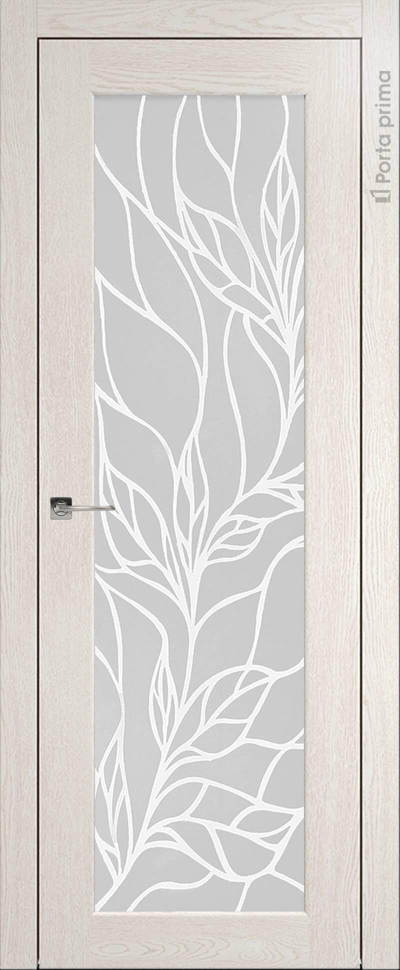 Pianta цвет - Белый ясень (nano-flex) Со стеклом (ДО)