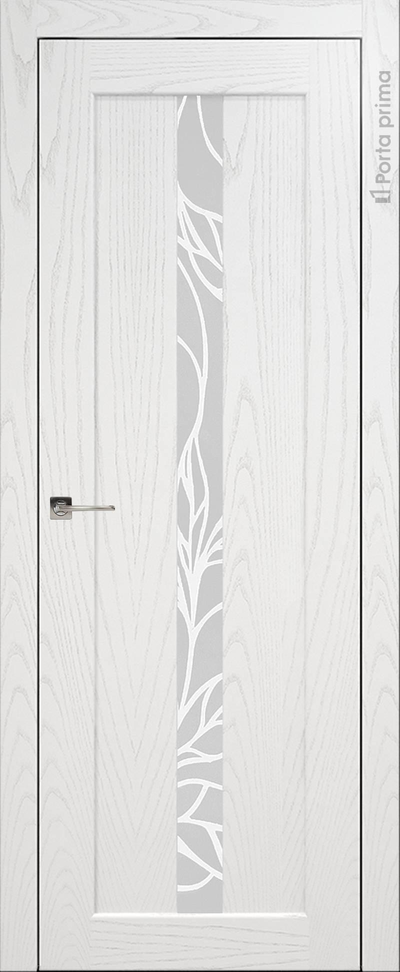Pianta цвет - Белый ясень (шпон) Без стекла (ДГ)