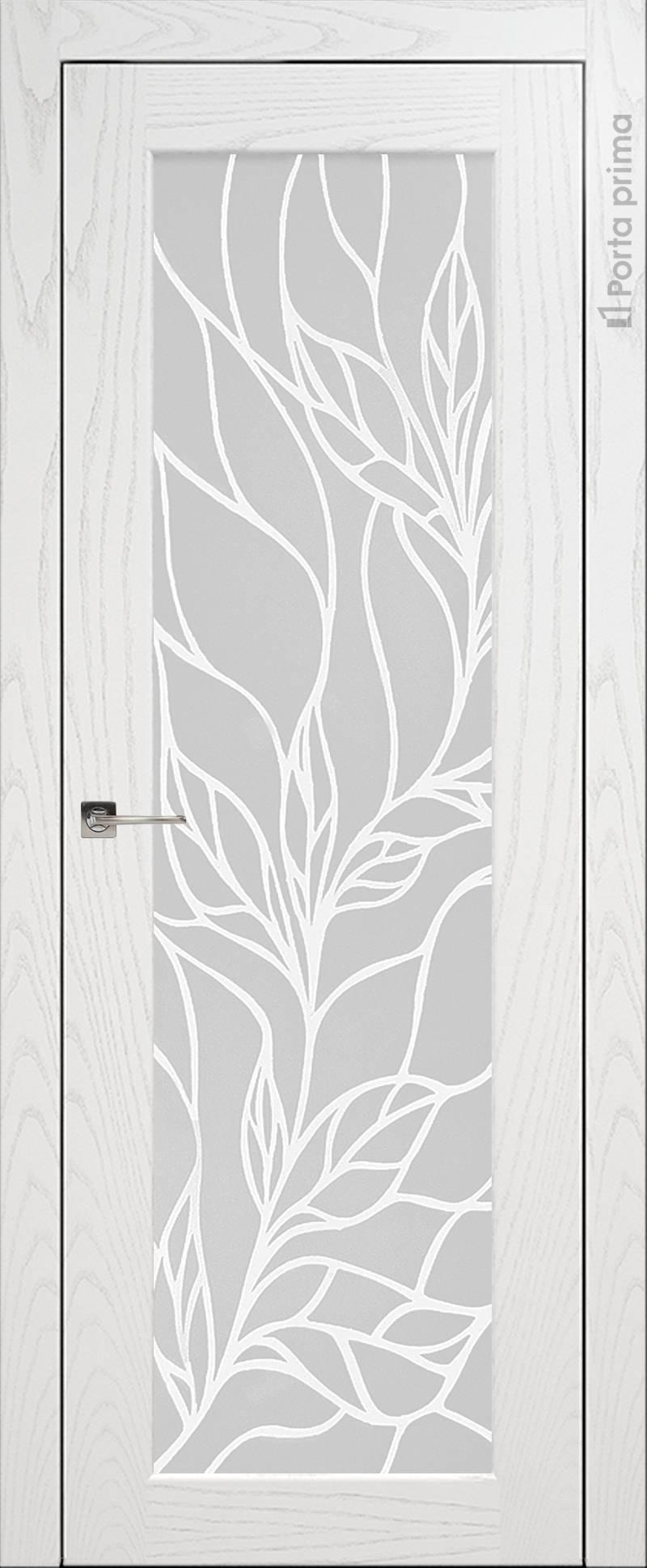 Pianta цвет - Белый ясень (шпон) Со стеклом (ДО)