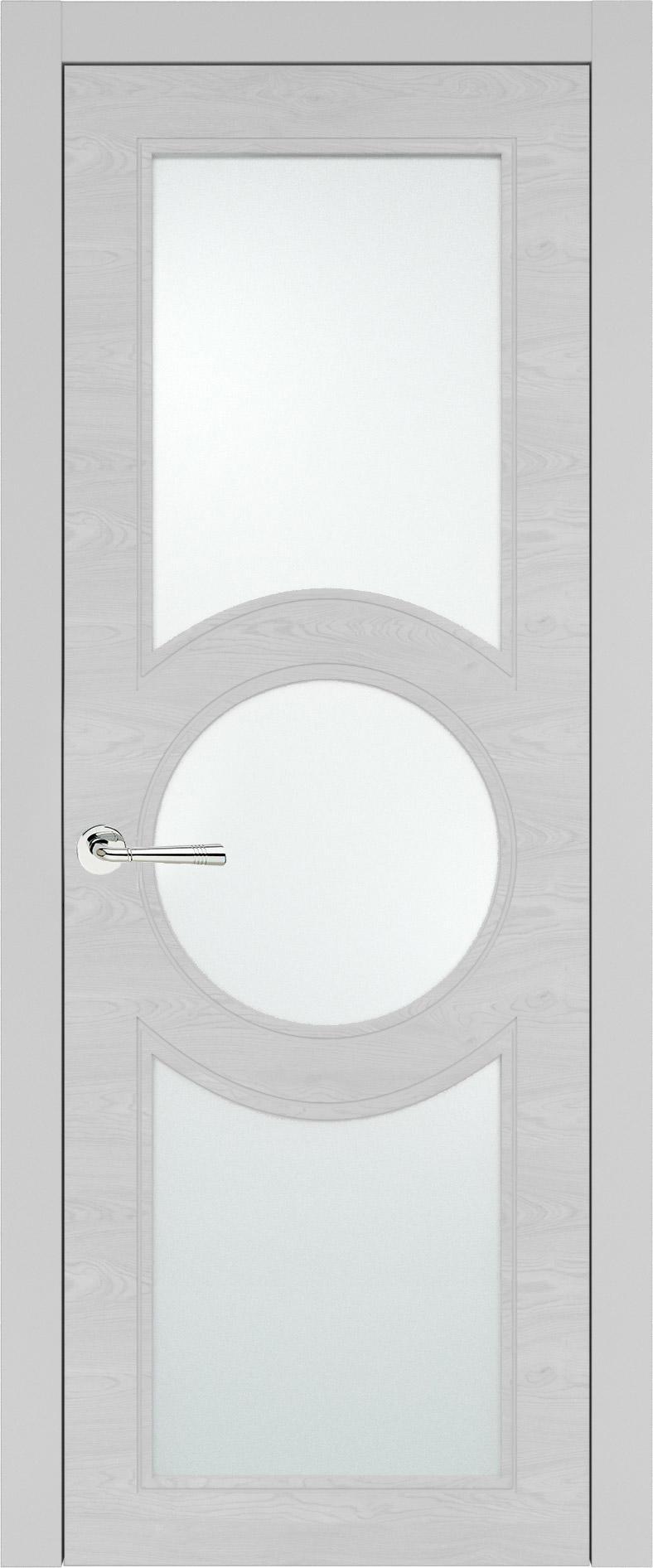 Ravenna Neo Classic цвет - Серая эмаль по шпону (RAL 7047) Со стеклом (ДО)