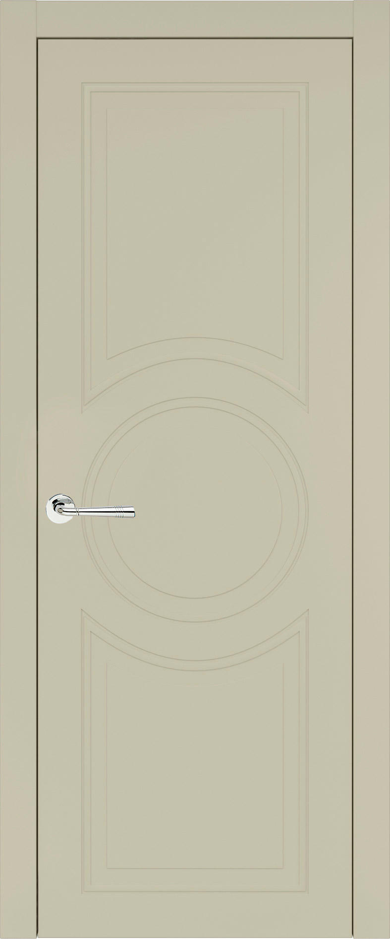 Ravenna Neo Classic цвет - Серо-оливковая эмаль (RAL 7032) Без стекла (ДГ)
