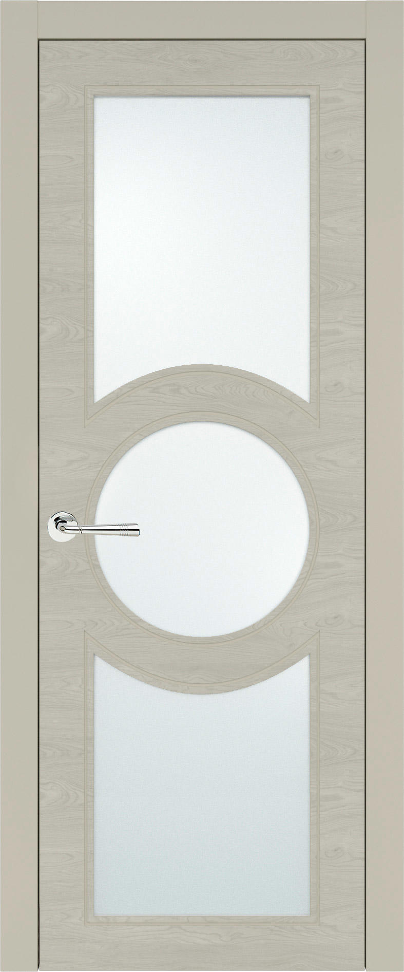 Ravenna Neo Classic цвет - Серо-оливковая эмаль по шпону (RAL 7032) Со стеклом (ДО)