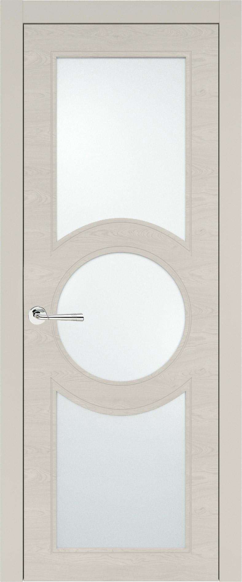 Ravenna Neo Classic цвет - Жемчужная эмаль по шпону (RAL 1013) Со стеклом (ДО)