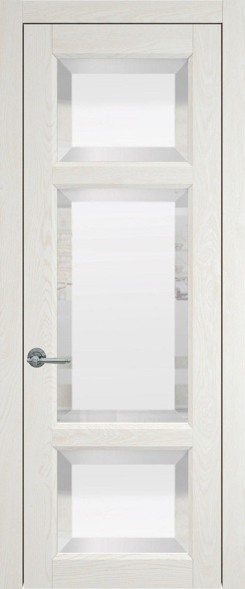 Siena цвет - Белый ясень (nano-flex) Со стеклом (ДО)