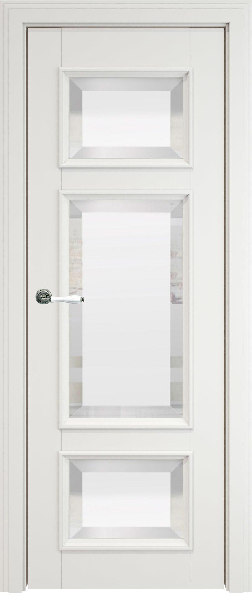 Siena LUX цвет - Белая эмаль (RAL 9003) Со стеклом (ДО)