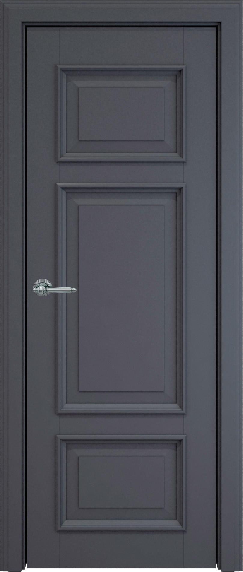 Siena LUX цвет - Графитово-серая эмаль (RAL 7024) Без стекла (ДГ)