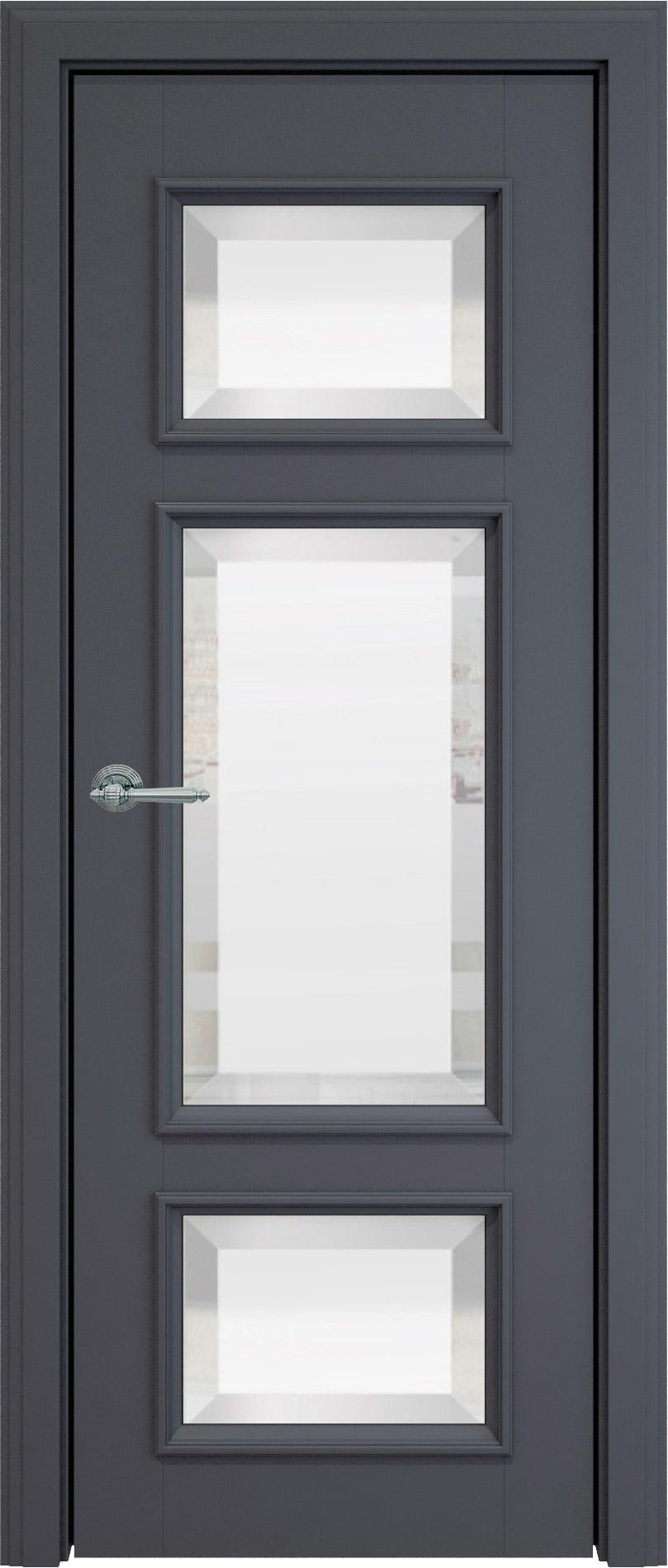 Siena LUX цвет - Графитово-серая эмаль (RAL 7024) Со стеклом (ДО)