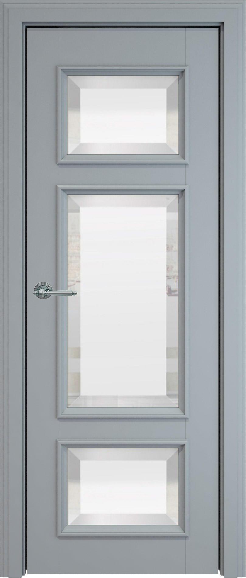Siena LUX цвет - Серебристо-серая эмаль (RAL 7045) Со стеклом (ДО)