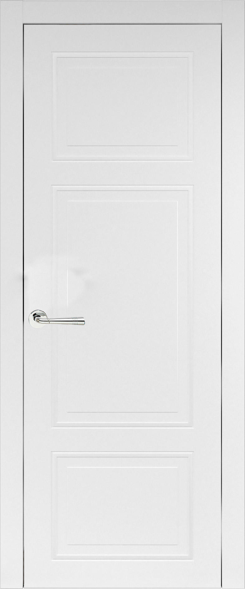 Siena Neo Classic цвет - Белая эмаль (RAL 9003) Без стекла (ДГ)