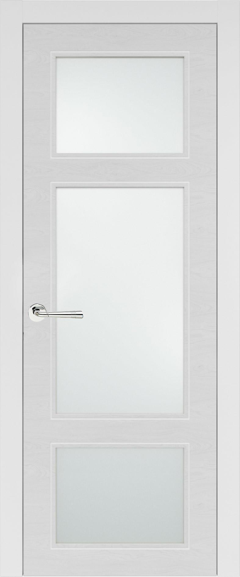 Siena Neo Classic цвет - Белая эмаль по шпону (RAL 9003) Со стеклом (ДО)