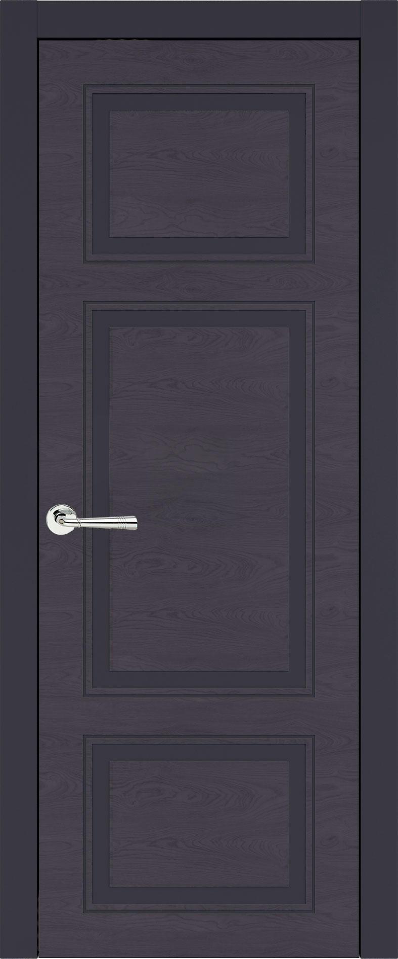 Siena Neo Classic цвет - Графитово-серая эмаль по шпону (RAL 7024) Без стекла (ДГ)