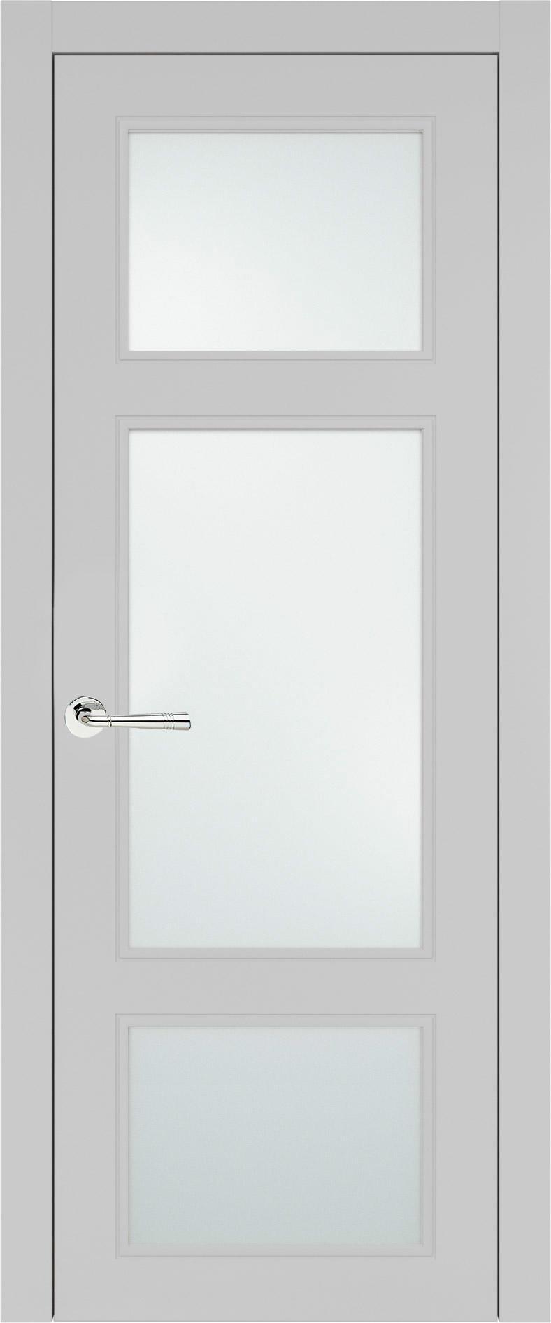 Siena Neo Classic цвет - Серая эмаль (RAL 7047) Со стеклом (ДО)