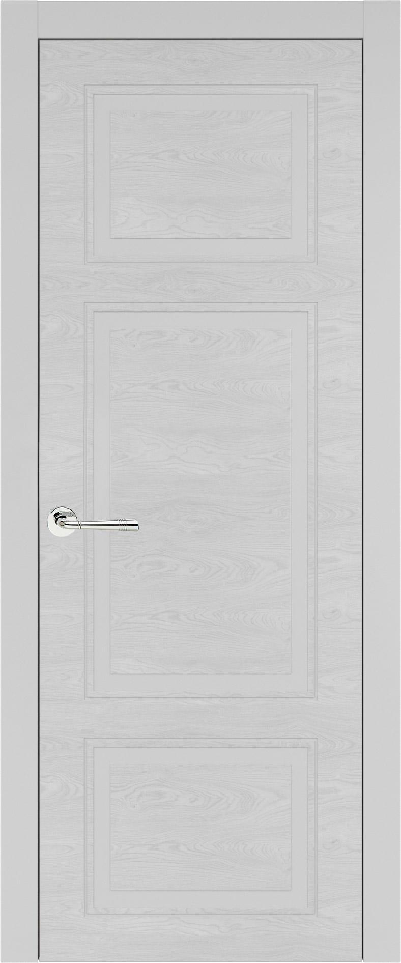 Siena Neo Classic цвет - Серая эмаль по шпону (RAL 7047) Без стекла (ДГ)