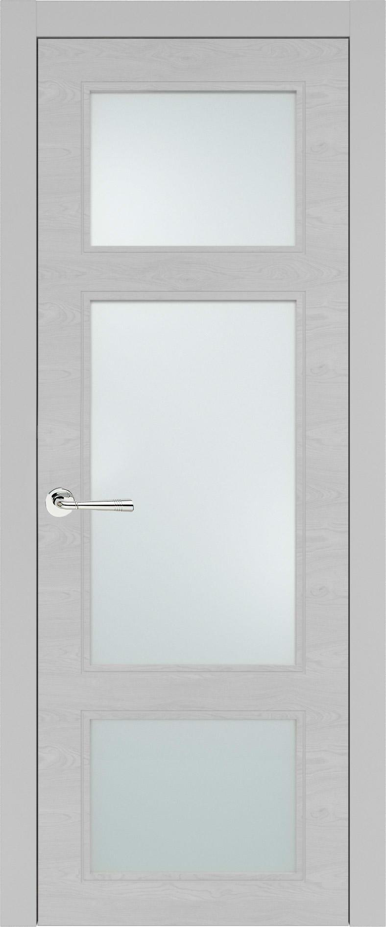 Siena Neo Classic цвет - Серая эмаль по шпону (RAL 7047) Со стеклом (ДО)