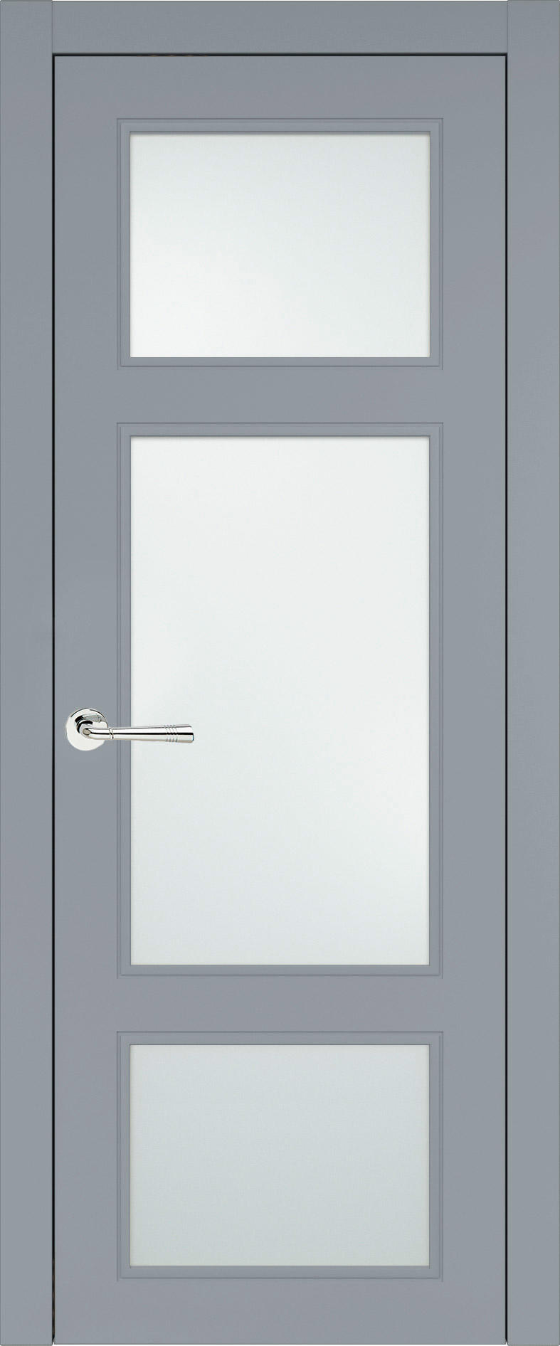 Siena Neo Classic цвет - Серебристо-серая эмаль (RAL 7045) Со стеклом (ДО)