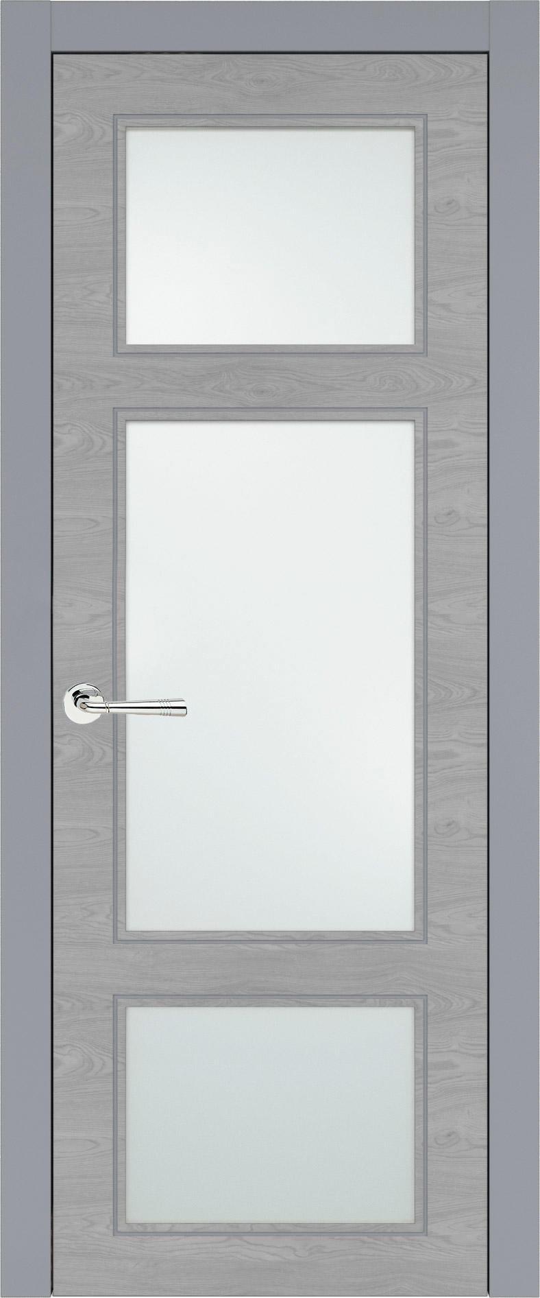 Siena Neo Classic цвет - Серебристо-серая эмаль по шпону (RAL 7045) Со стеклом (ДО)