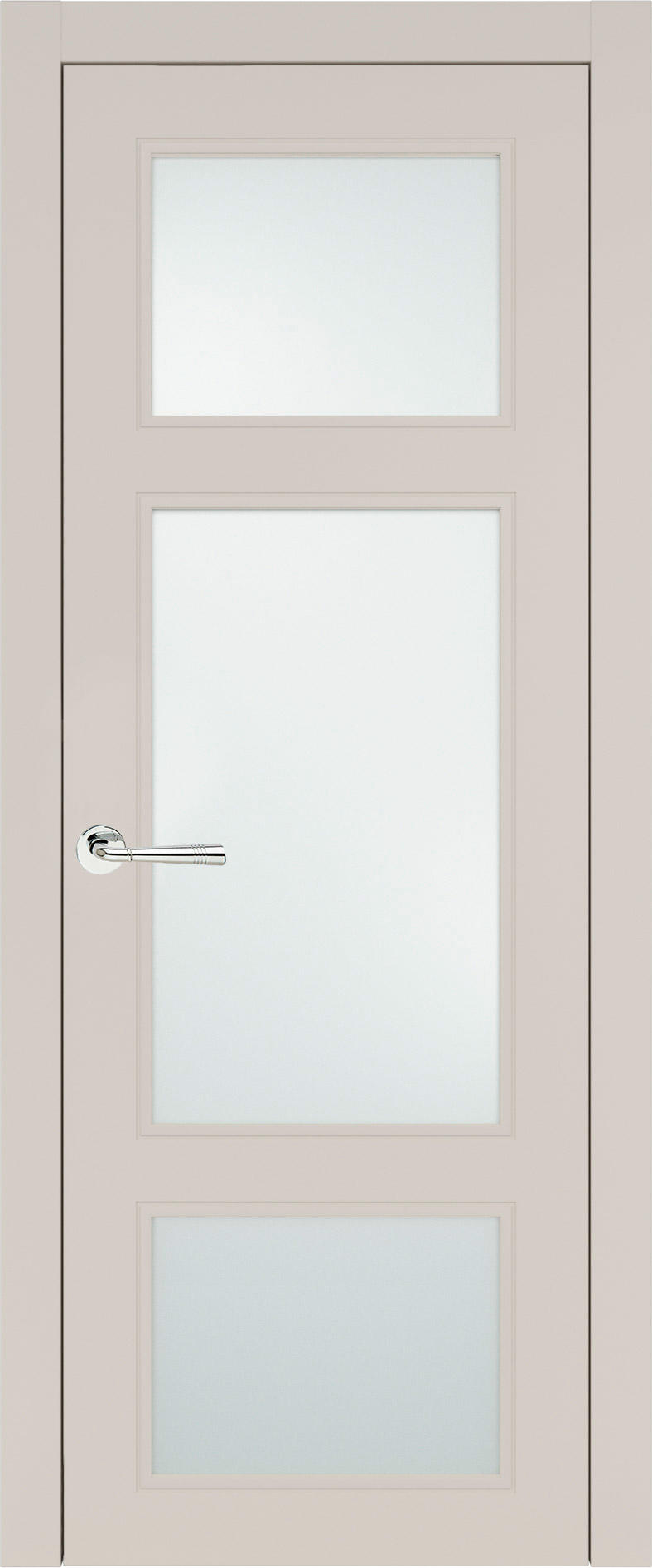 Siena Neo Classic цвет - Жемчужная эмаль (RAL 1013) Со стеклом (ДО)