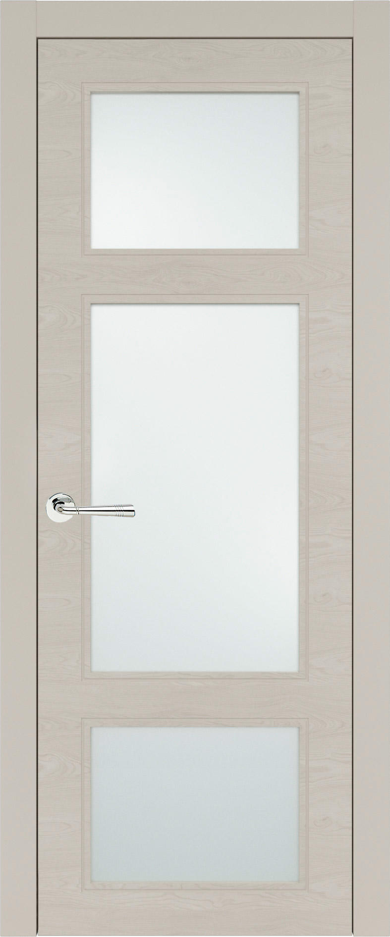 Siena Neo Classic цвет - Жемчужная эмаль по шпону (RAL 1013) Со стеклом (ДО)